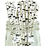 Just Artifacts - Decorative Paper Straws 100pcs - Birch Branch Pattern - Decorative Paper Straws for Birthday Parties, Weddings, Baby Showers, and Life Celebrations!