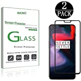 RKINC Oneplus 6 Screen Protector, [2 Pack] Screen Protector - Full Coverage Screen Protector - [3D Round Edge] [9H Hardness] [Crystal Clear] [Scratch Resist] for Oneplus 6, Black