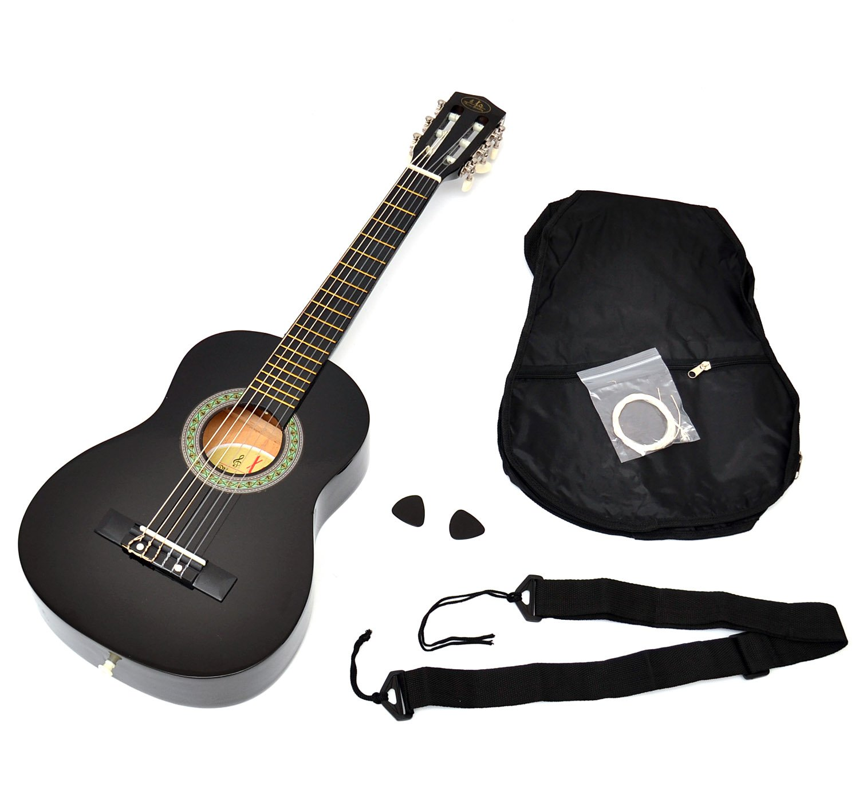 ts-ideen 52071 - Guitarra clásica para niños completa con funda, correa y cuerdas