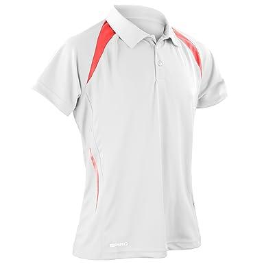 Spiro - Polo sport à manches courtes - Homme  Amazon.fr  Vêtements ... 1175fb15eac8