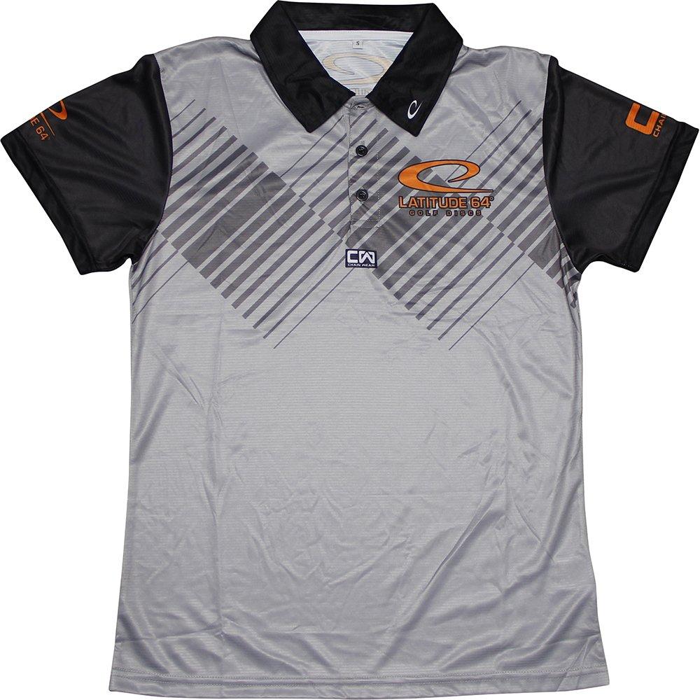 Latitude 64ゴルフDiscsアクセント昇華半袖パフォーマンスディスクゴルフポロシャツ B074B7QDQW  グレー X-Large