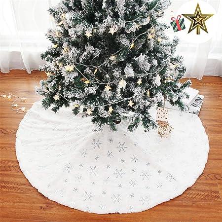 Odot Falda del árbol de Navidad, 90cm/122cm Suave Alfombra de ...