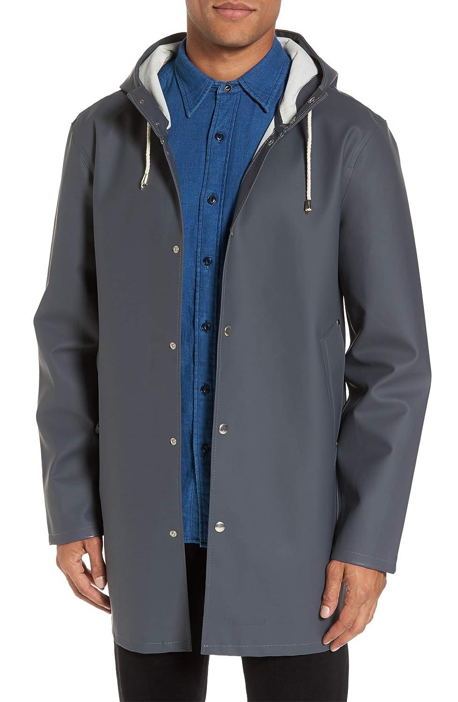 (ステュッテルハイム) STUTTERHEIM Stockholm Waterproof Hooded Raincoat ストックホルム防水フード付きレインコート (並行輸入品) B07HCW9G2B Charcoal 木炭 XS