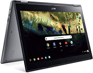 """Acer Chromebook Spin 15 Convertible Laptop, Intel Pentium N4200, 15.6"""" Full HD Touch Display, 4GB LPDDR4, 32GB eMMC, 802.11ac WiFi, Google Chrome, CP315-1H-P8QY, Silver"""