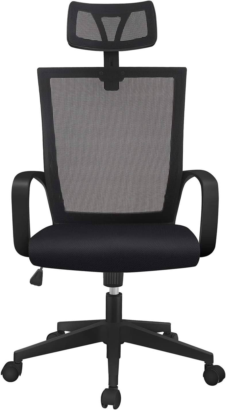 Magic Life Adjustable Office Chair Ergonomic Mesh Chair High Back Computer Desk Chair w/High Rebound Seat and Adjustable Headrest