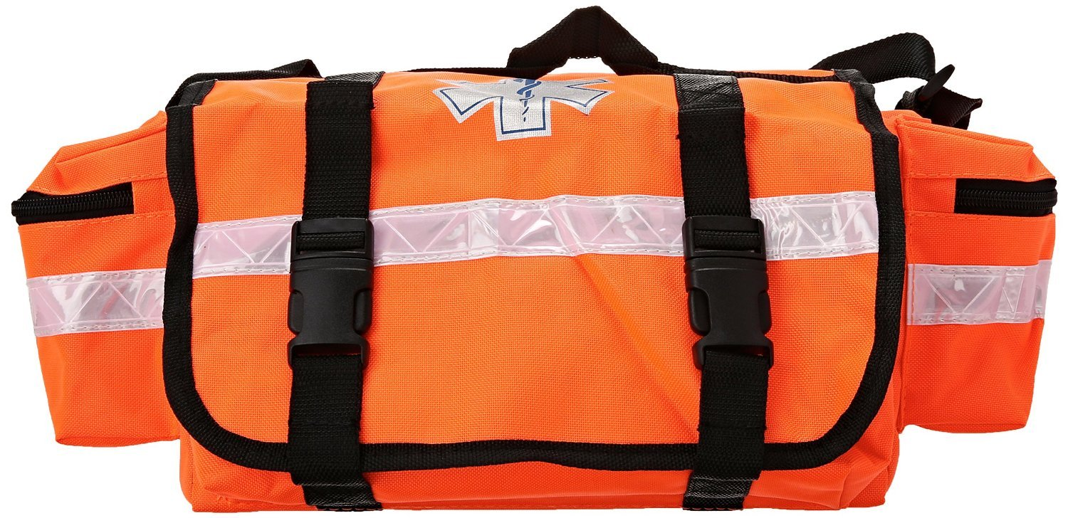 Dealmed First Aid Fully Stocked First Responder Kit great for Tornado and all Natural Disasters, Orange