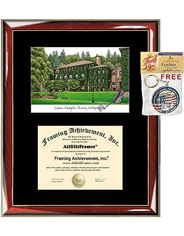 Signature Announcements Campbell-University Undergraduate 16 x 16 Cherry Sculpted Foil Seal Graduation Diploma Frame