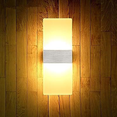 Acrylique moderne lampe murale à LED lampe de chevet, table de chevet chambre salon créatif à l'hôtel restaurant l'étude du corridor corridor est évidente,