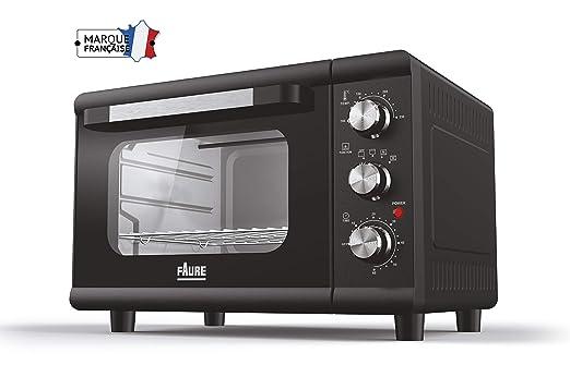 Faure FO-231M1 - Mini horno (23 L), color negro: Amazon.es: Hogar