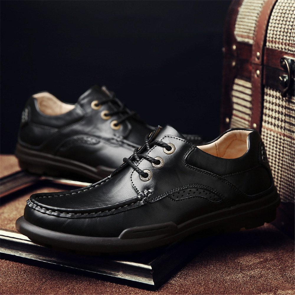 Männer - - - mode casual lederschuhe modeldamenschuhe spitzen runde mode - schuhe mit england,schwarz,39 4ac3bd
