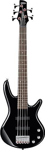 Ibanez 5 String Bass Guitar, Black (GSRM25BK)