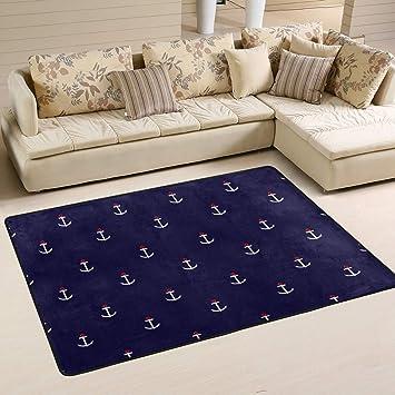 Xianghefu Personalisierte Bereich Teppiche Abstrakt Maritim Anker 3