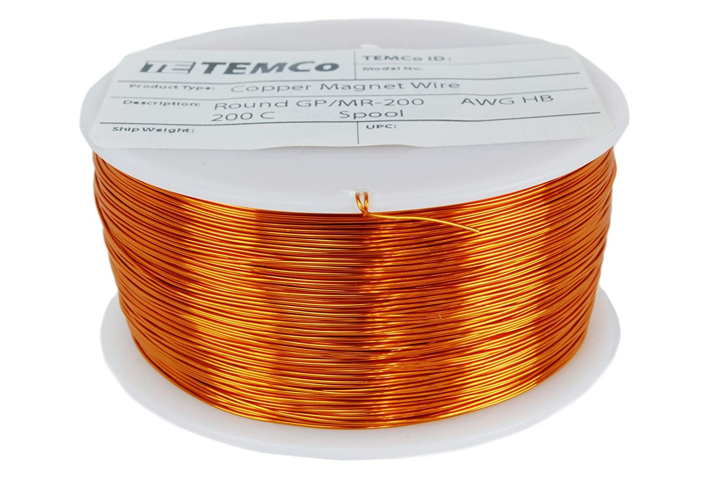 Amazon temco 29 awg copper magnet wire 1 lb 2465 ft 200c amazon temco 29 awg copper magnet wire 1 lb 2465 ft 200c magnetic coil winding home improvement greentooth Images