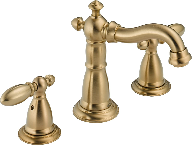 Delta Faucet 3555LFCZ-216CZ Victorian Two Handle Widespread Bathroom  Faucet, Champagne Bronze