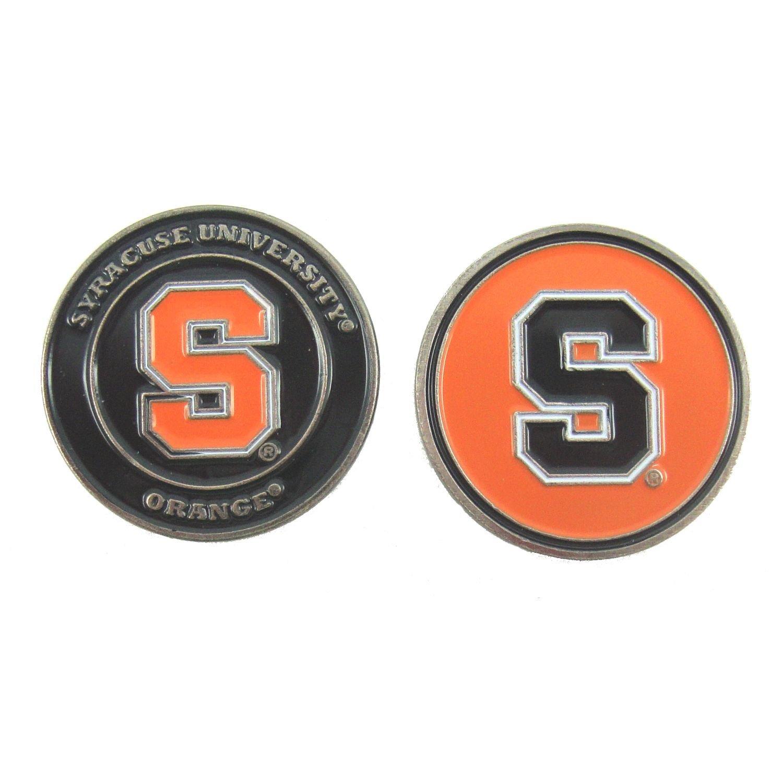 Syracuseオレンジ両面ゴルフボールマーカー   B00QFQ6160