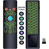 Mini Wireless Keyboard, Wechip Air Mouse Remote Control T6 Touchpad with Colorful Backlit for Android TV Box/PC/Smart TV/Projector/HTPC/IPTV/Pad and More Devices