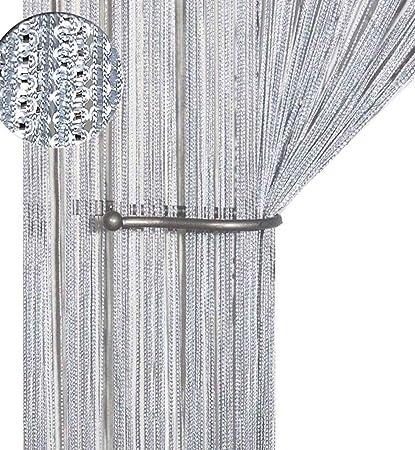 aizesi rideau salon moderne rideaux voilage chambre curtain rideaux cuisine beige chaine rideau argent fil coulissants douche mur 90x200 cm