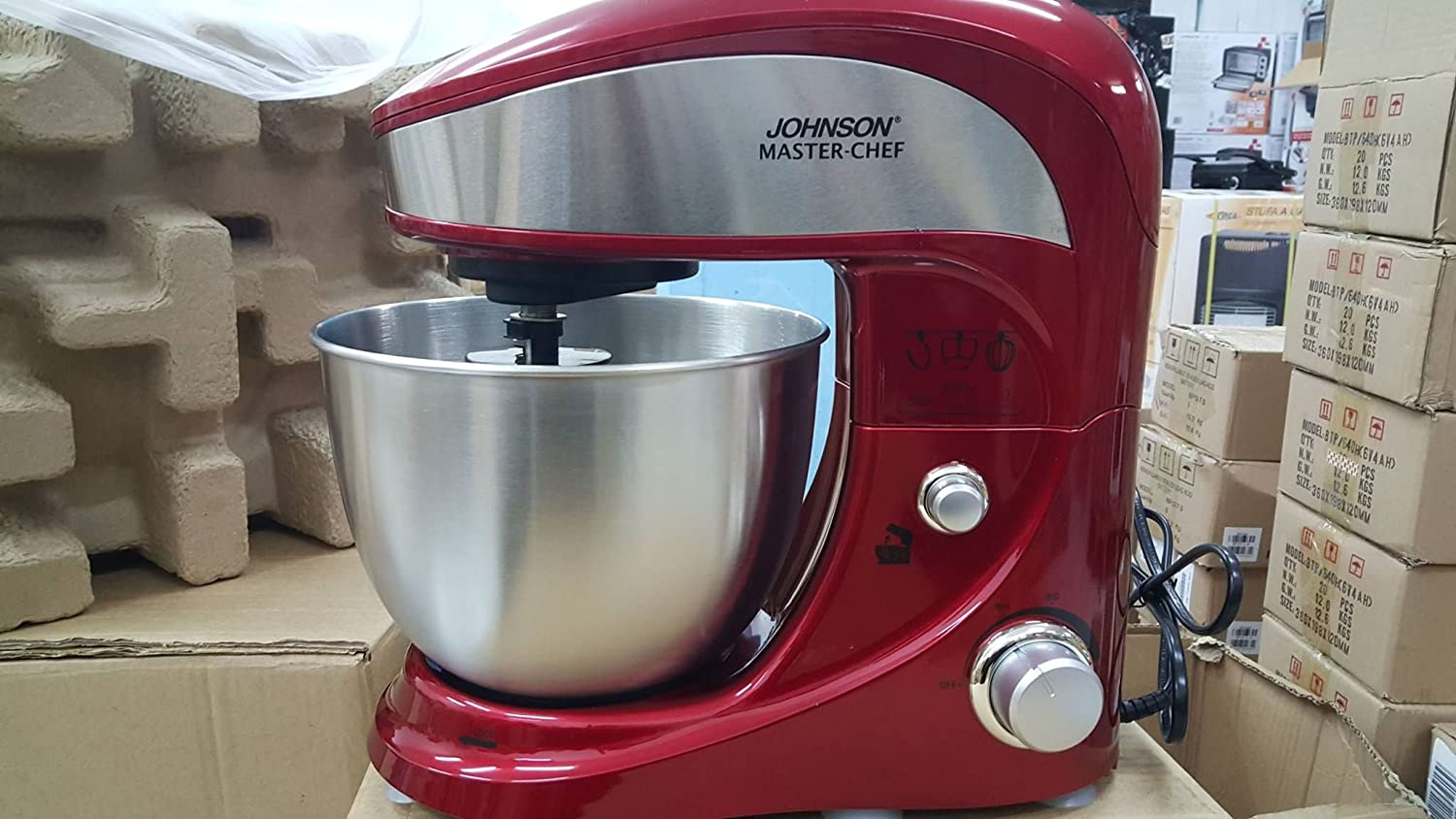 Johnson Master-chef - Batidora, amasadora, mezcladora, 1.000 W: Amazon.es: Hogar