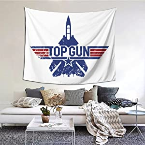 Classic Top Gun 80s Movies Tapestries With Art Nature Home Stylish Wall Hangings Tapestry Bedroom Party Decor (60 X 51 Inch)