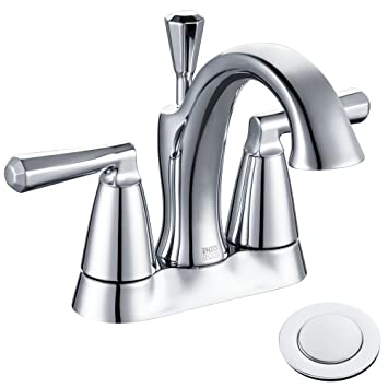 Enzo Rodi Lead Free Brass 4 Inch Center Set Bathroom Sink Faucet