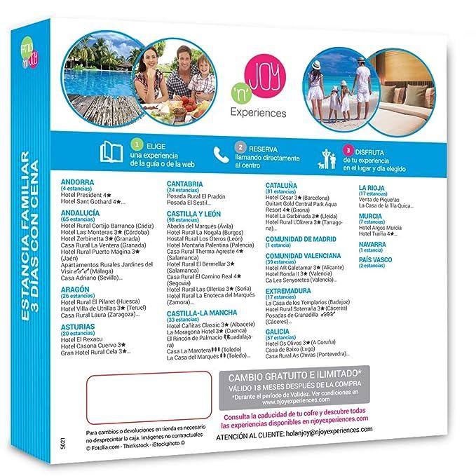 Njoy Experiences- Caja Regalo- Estancia Familiar 3 DÍAS con ...