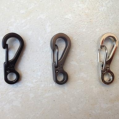 5x Mini Karabinerhaken Keychain Outdoor Climbing Schnallenhaken EDC Werkzeug