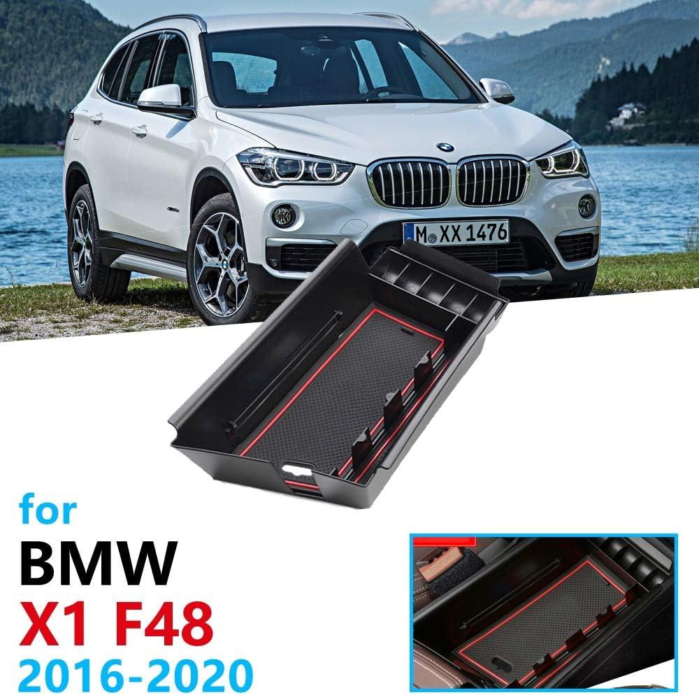 Linfei Auto Organizer Zubehör Für Bmw X1 F48 2016 2020 Armlehne Aufbewahrungsbox Verstauen Aufräumen X1m M Power Lhd Nur Münze Auto