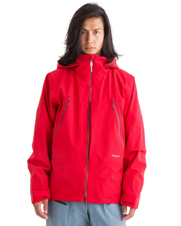 43DEGREES 全9パターン スノーボードウェア メンズ 上下セット Peak Jacket + Hang Pants B076DKCWHJ Sサイズ|07.Red + Fog Blue 07.Red + Fog Blue Sサイズ