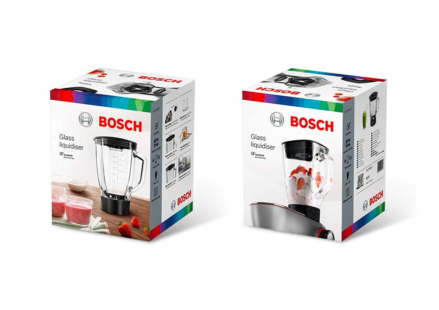 Amazon.com: Bosch MUZ9MX1 Thermosafe Glass Blender with Stainless Steel Knife For Kitchen Optimum: Kitchen & Dining