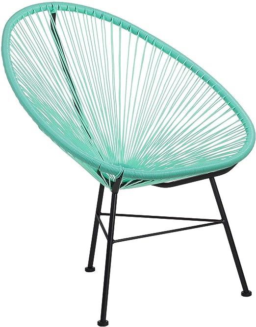 SKLUM Pack 2 Sillas New Acapulco Polietileno - Acero Verde Jade ...