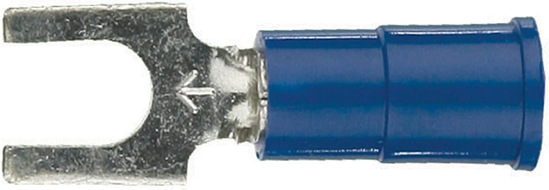100 blue 16-14 Gauge Spade Fork Wire Terminal Crimp Connectors #8