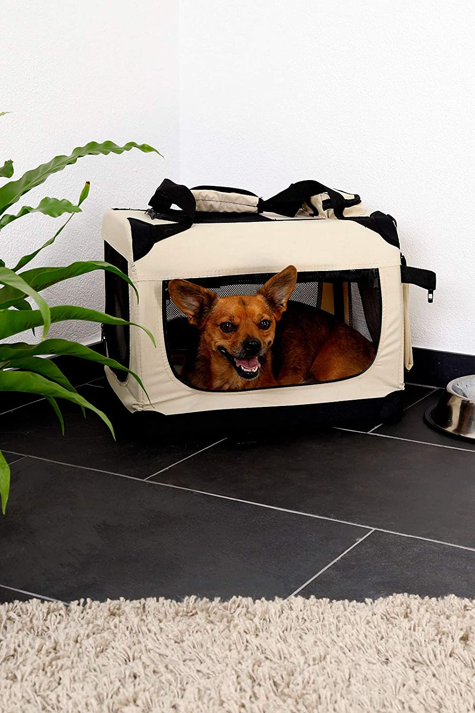 Negro, 101x69x70 cm dibea TB10025 Bolsa de Transporte para Perros y Gatos XXXL