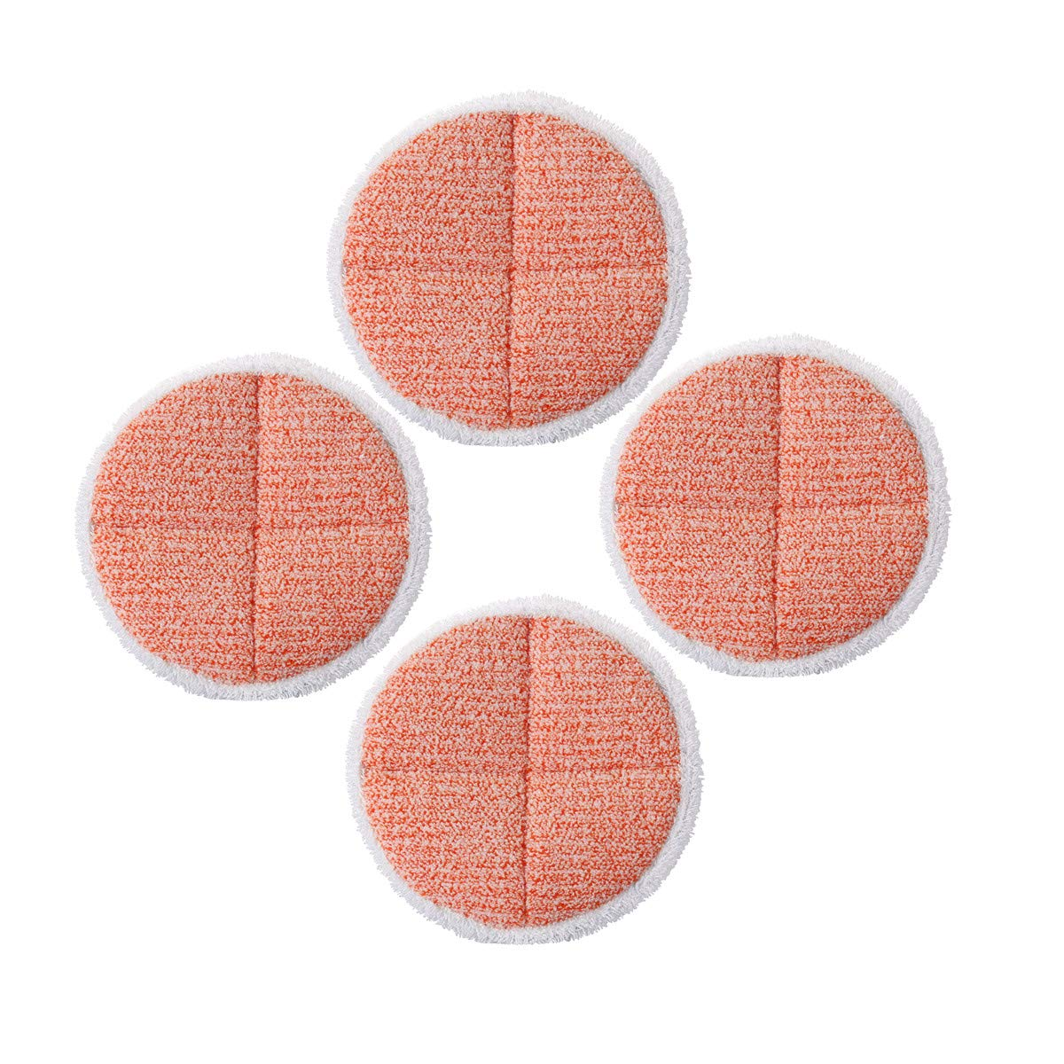 Mop Pads Replacement for Bissell Spinwave 2124, 2039, 2037 Series Powered Hard Floor Mop (4 Heavy Scrub Pads)