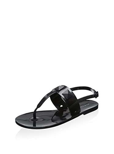 20730aa0570cb Image Unavailable. Image not available for. Color  Elie Tahari Black Cube  Jelly Sandals 40