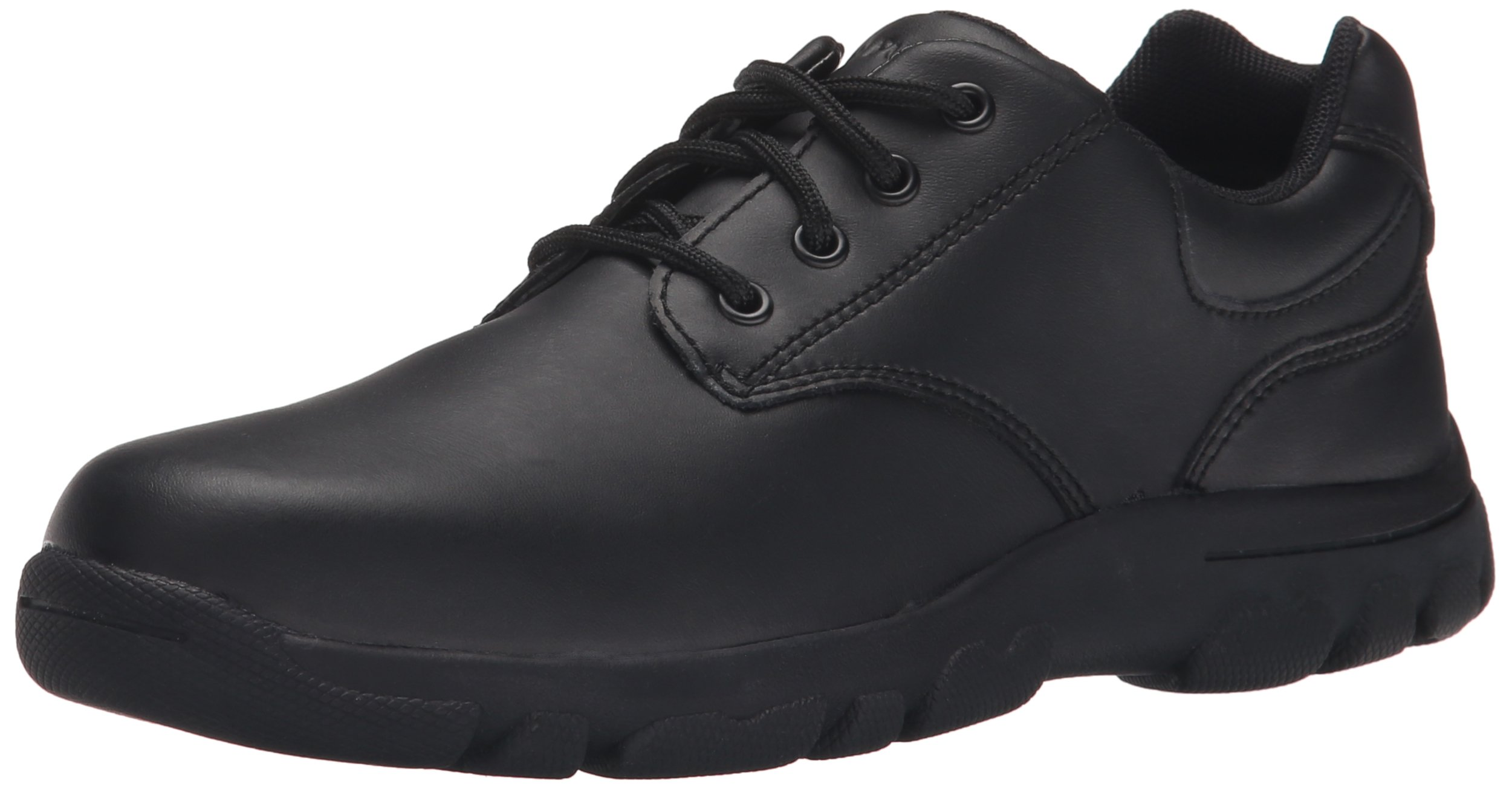Hush Puppies Chad Uniform Oxford (Toddler/Little Kid/Big Kid), Black, 4.5 M US Big Kid