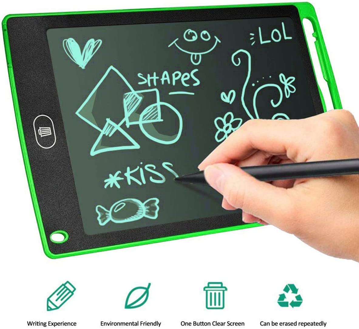 Green 8.5-Inch LCD Writing Tablet Drawing Board Kids Office Writing Board