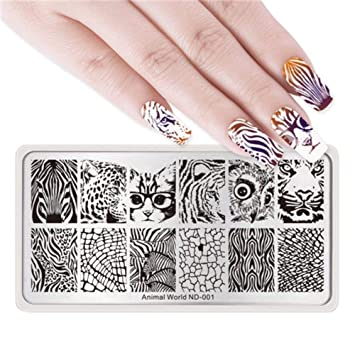 Nails Art & Tools Professional Transparent Nail Stamper Scraper Nail Art Stamping Template Image Plates Nail Stamp Plate Nail Art Tools With Cap Vivid And Great In Style Nail Art Templates