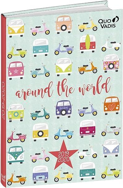 Agenda Escolar 1 Día/Página 2019-2020 Love&Peace, 12x17cm, diseño ...