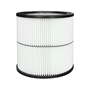 General Purpose Vacuum Cartridge 17884 Replacement Filter for Craftsman 9-17884 Part Fit 6 Gallon & Large Vacs, 1 Pack