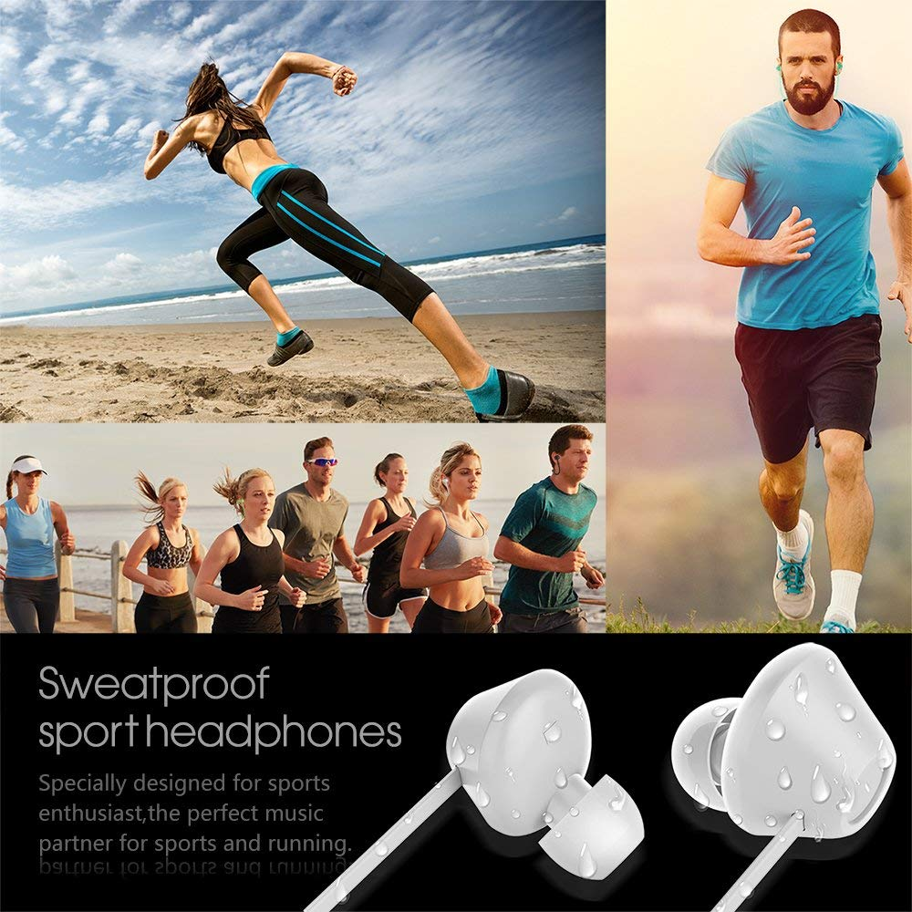 Sports Wireless Earbuds Bluetooth 5.0 IPX7 Waterproof Sweatproof in Ear Mini Stereo Sound Wireless Earphones Headphones with Charging Case Micro for Running Sport Gym