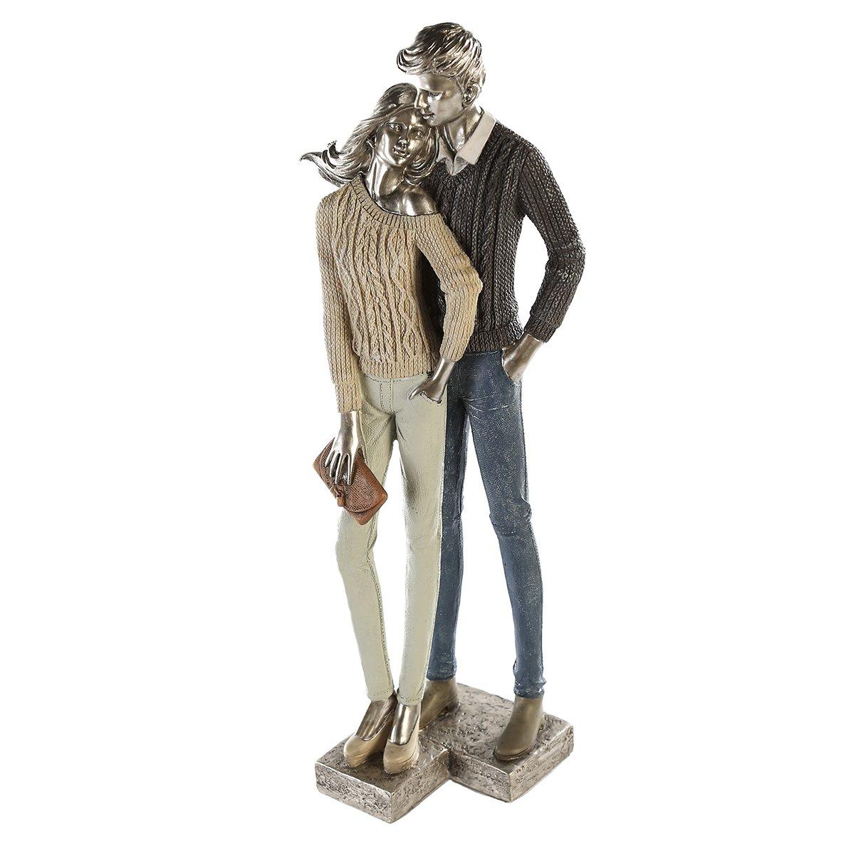 Casablanca - Skulptur Dekofigur - Cosy Couple- stehendes Paar - Polyresin - 16x41,5x11cm