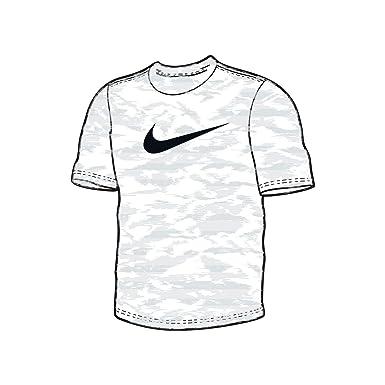 d5524197208f Nike Mens Dri-Fit Attack Camo Training T-Shirt White 932504-100 Size