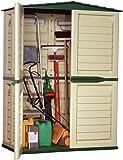 Starplast casetta alta da giardino151x 83x 198cm, colore: verde e beige, codice prodotto: 37811