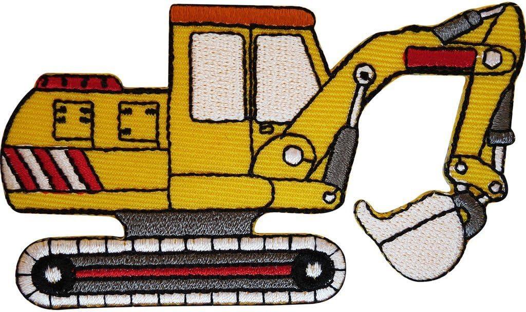 ricamato ruspa Iron On patch Sew on distintivo ragazzi Abbigliamento ricamo applique