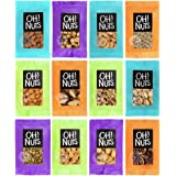 Oh Nuts 12 Individual Nuts & Seed Healthy Snacks Variety Pack - All Natural Grab N Go Keto Snack Bar Packs for Trail…