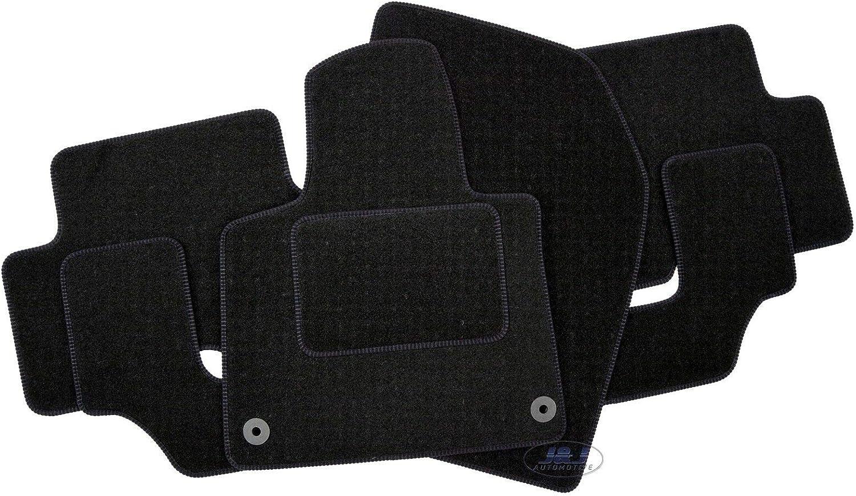 Tapis DE Sol Noir Velours Compatible avec Citroen C4 Cactus 2013-pr/és 4pcs J/&J AUTOMOTIVE