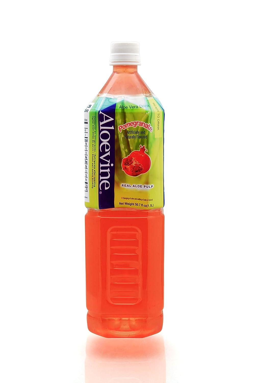 ALOEVINE Aloe Vera Drink 50.7 oz. 12 Pack (Pomegranate)