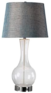 Kenroy Home 32255CLR Decanter Table Lamp Clear/Blue