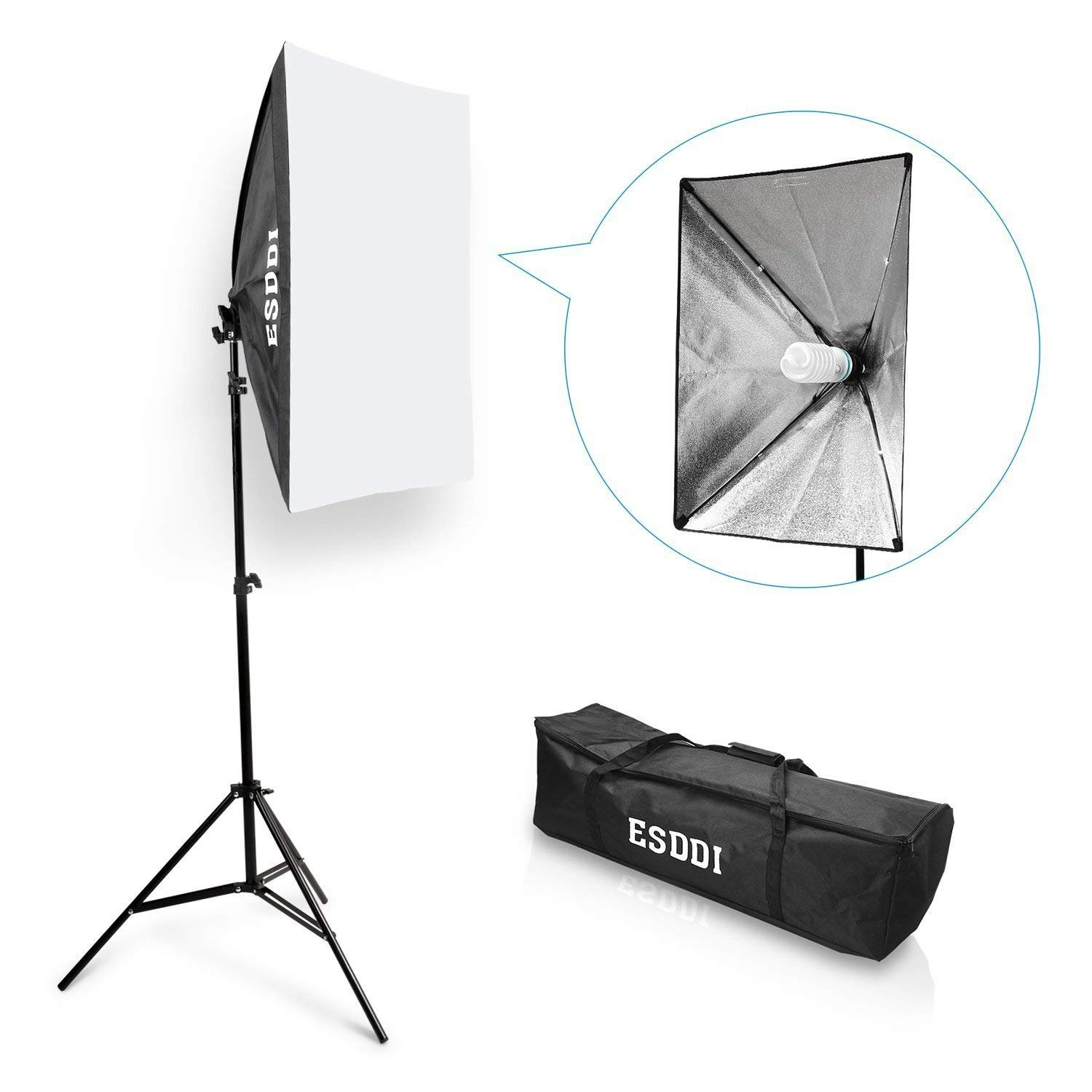ESDDI 20''X28'' Softbox Portable Photography Lighting Kit Photo Equipment Studio Light 20''X28'' Portrait Video Advertising Shooting by ESDDI