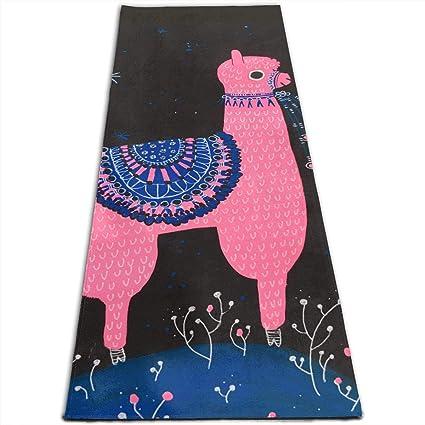 Amazon.com: Pink Llama Alpaca Cute Printed Yoga Mat Prana ...
